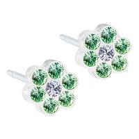CJ MP DAISY 5MM PERIDOT\CRYS